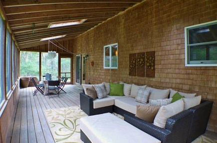 Oak Bluffs Martha's Vineyard vacation rental - Large back screened porch for family gatherings