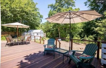 Chilmark Martha's Vineyard vacation rental - Morning coffee awaits on the deck.