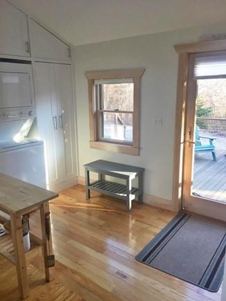 Chilmark Martha's Vineyard vacation rental - The kitchen opens to the deck.