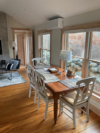 Chilmark Martha's Vineyard vacation rental - The dining table doubles as a work space with a great view.