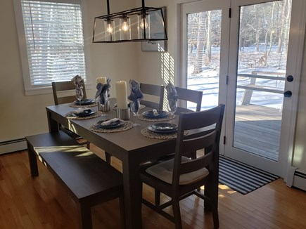 Oak Bluffs Martha's Vineyard vacation rental - Lovely dining area that leads to the deck.