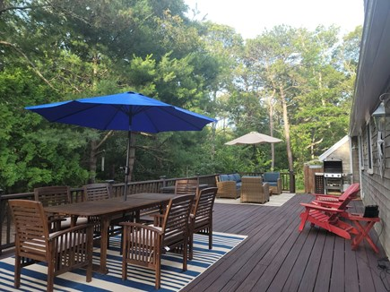 Oak Bluffs Martha's Vineyard vacation rental - So many options to relax on the deck.