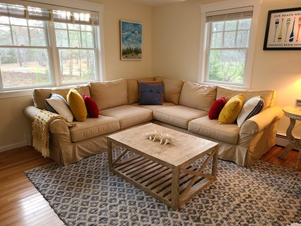 Oak Bluffs Martha's Vineyard vacation rental - Enjoy an afternoon cocktail on the Pottery Barn sectional.