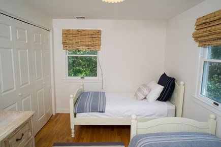 Edgartown Martha's Vineyard vacation rental - Second floor bedroom with two twin beds.