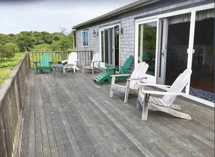 Aquinnah Martha's Vineyard vacation rental - Massive deck overlooking the water