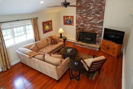 Oak Bluffs Martha's Vineyard vacation rental - LR taken from the half-walled 2nd FL family/TV room