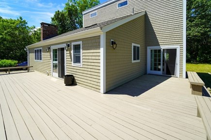 Oak Bluffs Martha's Vineyard vacation rental - Wraparound deck, queen BR's private entry sliders on right