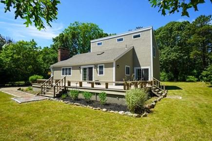 Oak Bluffs Martha's Vineyard vacation rental - Large grassy yard. 2021=deckside plantings