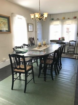 Oak Bluffs Martha's Vineyard vacation rental - Dining room with table that seats 8 off the kitchen.