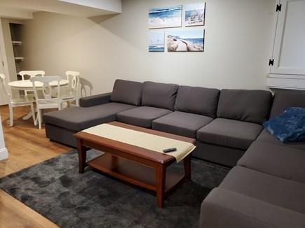 Oak Bluffs, 02557 Martha's Vineyard vacation rental - Basement family room with large TV