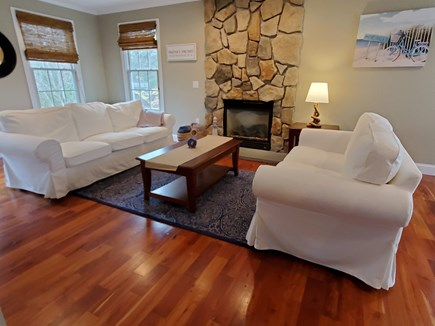 Oak Bluffs, 02557 Martha's Vineyard vacation rental - Spacious Living Area with fireplace and TV.