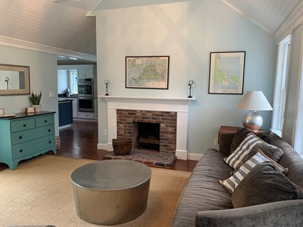 Vineyard Haven Martha's Vineyard vacation rental - The living room connects the kitchen to the family room & office