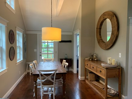 Vineyard Haven Martha's Vineyard vacation rental - A full dining area that opens to a large front porch with rockers