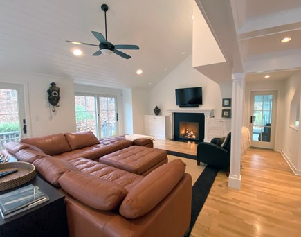 Oak Bluffs Martha's Vineyard vacation rental - Living Area with Fireplace