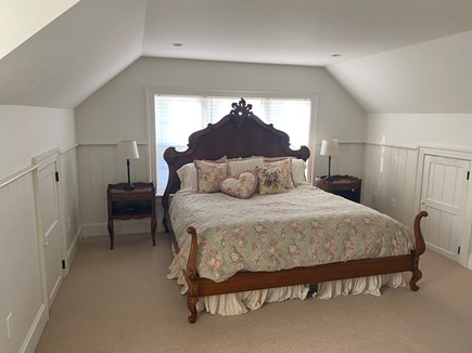 Edgartown Martha's Vineyard vacation rental - Queen Room with full bath above garage and separate from house