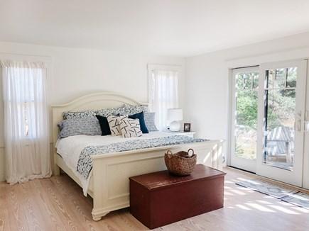 West Tisbury Martha's Vineyard vacation rental - Large main bedroom, ensuite bath and sliders to deck.