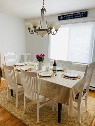 Edgartown Martha's Vineyard vacation rental - Dining area. Table seats 8, extended.