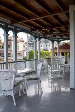 Heart of Oak Bluffs Martha's Vineyard vacation rental - Enjoy coffee or a glass of wine on the covered front porch.