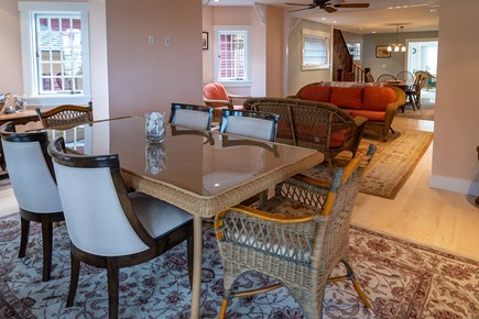 Heart of Oak Bluffs Martha's Vineyard vacation rental - Main level living and dining area.