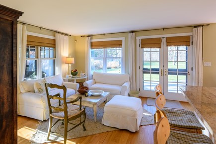 Chilmark - Quansoo Beach Martha's Vineyard vacation rental - Sitting Area adjacent to Kitchen