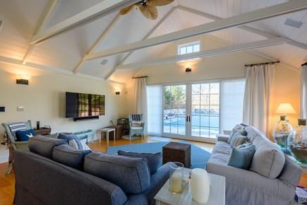 Chilmark - Quansoo Beach Martha's Vineyard vacation rental - Pool House with TV and Queen Sleeper Sofa