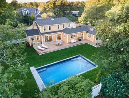 Katama - Edgartown Martha's Vineyard vacation rental - Aerial View of House