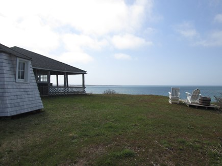 Chappaquiddick, Edgartown Martha's Vineyard vacation rental - Right side yard water views