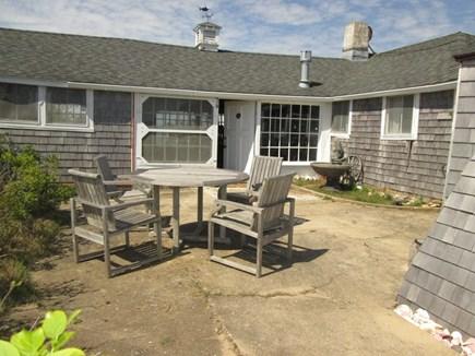 Chappaquiddick, Edgartown Martha's Vineyard vacation rental - Patio area with water fountain