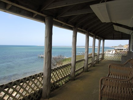 Chappaquiddick, Edgartown Martha's Vineyard vacation rental - Front porch water views