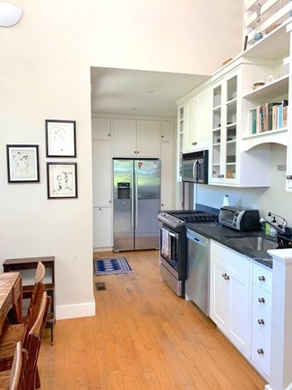 Vineyard Haven Martha's Vineyard vacation rental - Open Kitchen and Dining Area with Soaring Ceiling