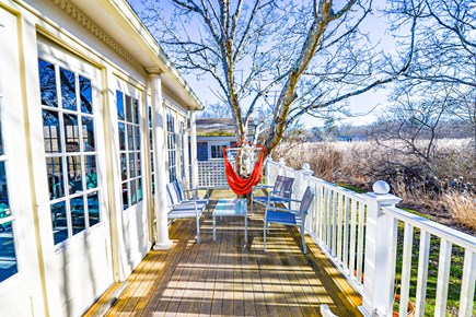 Oak Bluffs Martha's Vineyard vacation rental - Back deck off of screened in porch also leads to outdoor shower