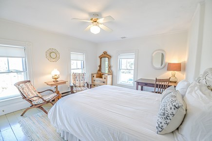 Oak Bluffs Martha's Vineyard vacation rental - Upstairs queen bedroom with ceiling fan and desk