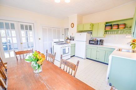 Oak Bluffs Martha's Vineyard vacation rental - Eat in kitchen with a large screened in porch off of it