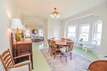 Oak Bluffs Martha's Vineyard vacation rental - Dining room off the living room with happy bow window