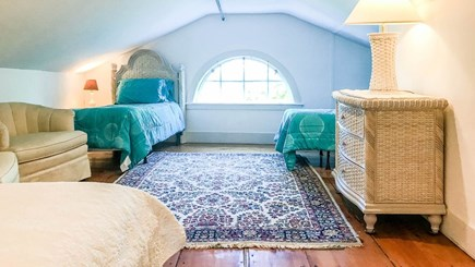 Edgartown Martha's Vineyard vacation rental - Third floor sitting room with queen and two twins