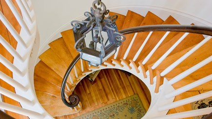 Edgartown Martha's Vineyard vacation rental - Spiral Staircase in front hall