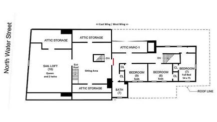 Edgartown Martha's Vineyard vacation rental - Floor plan
