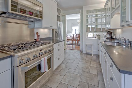 Edgartown Martha's Vineyard vacation rental - Front Kitchen #1 w/ the formal dining room beyond. Fully equipped