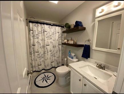 Vineyard Haven Martha's Vineyard vacation rental - Clean and bright bathroom, island themed