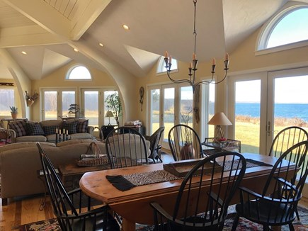 West Tisbury, Upper Makonikey Martha's Vineyard vacation rental - Large dining area that overlooks an open & spacious great room
