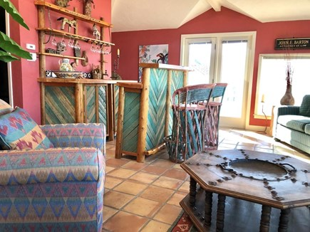 West Tisbury, Upper Makonikey Martha's Vineyard vacation rental - Tikki room with Sauna, private bath and leads to hot tub on deck