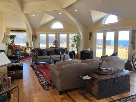 West Tisbury, Upper Makonikey Martha's Vineyard vacation rental - Open Living Space with sweeping views of Vineyard Sound