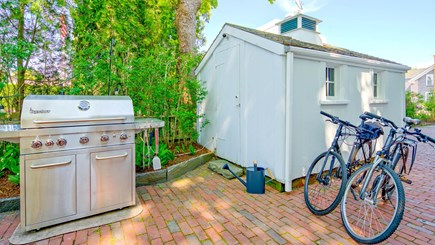 Edgartown Martha's Vineyard vacation rental - BBQ Grill and Bike Shed