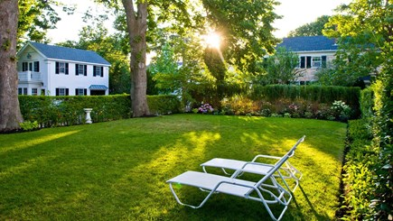Edgartown Martha's Vineyard vacation rental - Back Lawn and Chaise Lounges (5)