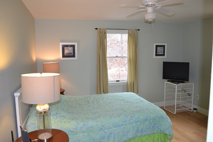 Oak Bluffs, East Chop Martha's Vineyard vacation rental - Sunny bedroom with queen-size bed.