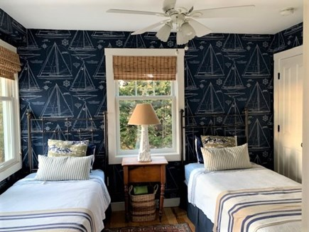 Oak Bluffs Martha's Vineyard vacation rental - Twin bedroom with a view of Lagoon Pond