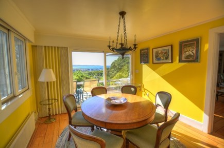 Chilmark, Menemsha Martha's Vineyard vacation rental - Bright dining room was just painted white last summer.