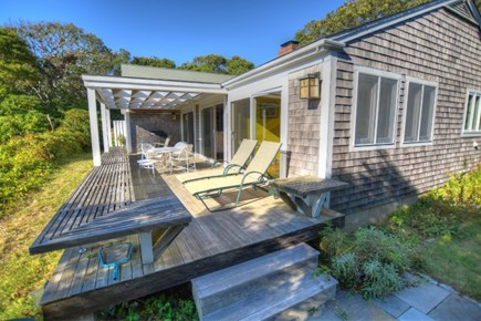 Chilmark, Menemsha Martha's Vineyard vacation rental - View from the hot tub to the house