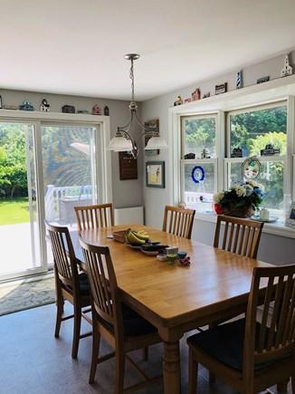 Edgartown Martha's Vineyard vacation rental - Kitchen table comfortably seats 6.
