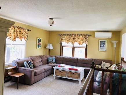 Edgartown Martha's Vineyard vacation rental - Bright room with a large sectional couch.